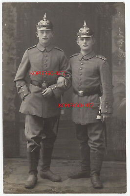 Foto Portrait Soldat Pickelhaube Bajonett Schulterklappen IR Regiment 163 Photo
