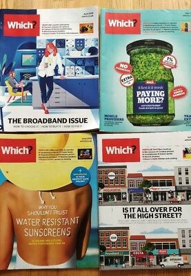 Which? Magazines April to July 2018 set of 4 issues
