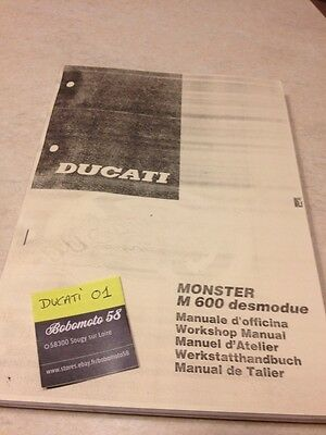 Ducati Monstro 600 Desmodue manuel atelier workshop service manual
