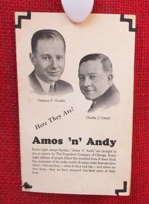 Vintage 'Amos 'N' Andy' Radio Show Pamphlet by Pepsodent, 1930s Radio Show