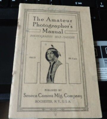 Vintage The Amateur Photographer's Manual Seneca Camera Manufacturing Booklet