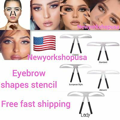 Microblading Permanent Eyebrow Stencil Measure Makeup Tattoo Ruler Template