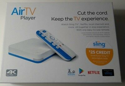 AirTV Player 4K UHD Streaming Media Player, AND $25 Sling TV Credit, NEW!