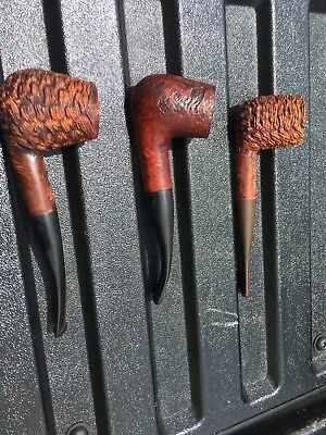 Lot of 3 never smoked vintage Italian & Czech briar smoking pipes NOS Lot 4