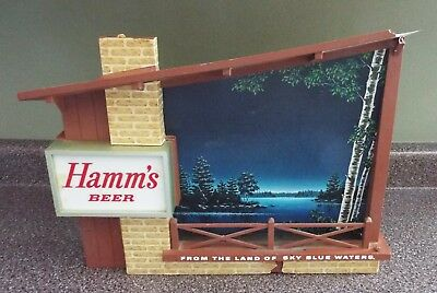 Hamm's Beer Starry Skies Twinkling Lighted Motion Bar Sign