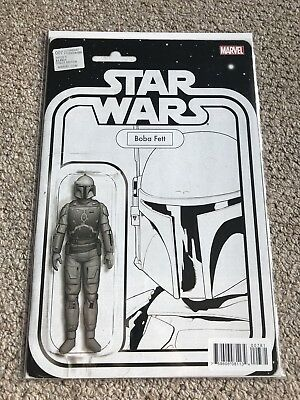 Star Wars #7 Boba Fett Black & White JTC Action Figure Variant
