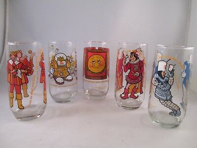 Burger King Collector Series set of 5 Drinking Glass ~ 1979