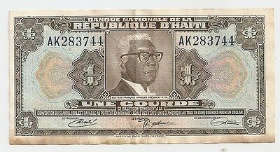 Nation Bank of the Republic of Haiti ~1 Gourde Bank Note ~ Convention 12th April