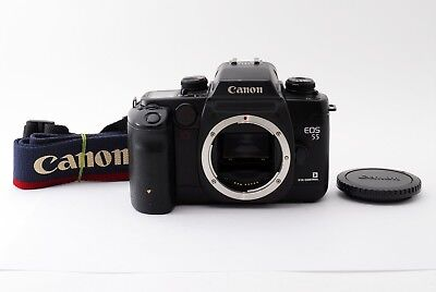 CANON EOS 55 35mm SLR Film Camera Black Body Only [Exc++] from Japan #215