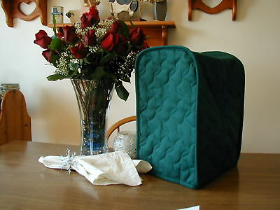 Hunter Green Appliance Cover Small Mixer or Coffeemaker Solid Quilted Fabric