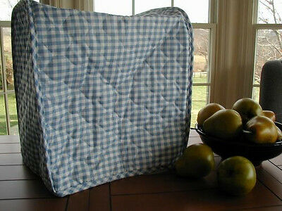 Blue Gingham Appliance Cover fits Large Kitchen Mixers, quilted fabric LAST ONE