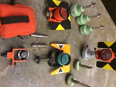 Assorted Survey targets and mounts For Total Stations Surveying Leica / Nikon