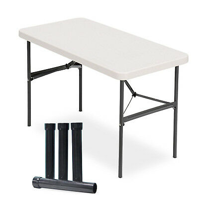 Lift Your Table® folding table risers lifts STRAIGHT LEG tables to counter ht