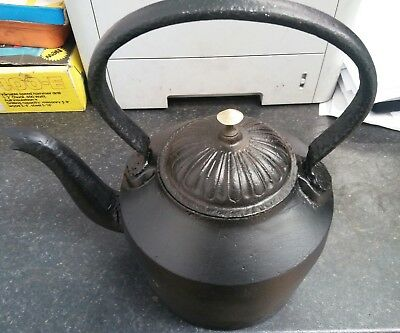""" Antique Cast Iron Kettle""1920-30's"