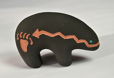 Vintage ACOMA PUEBLO Pottery SIGNED by LOUIS Mesa Art Indianer Native Americans
