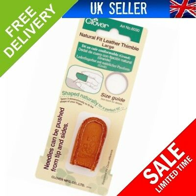 Clover Large Natural Fit Leather Thimble