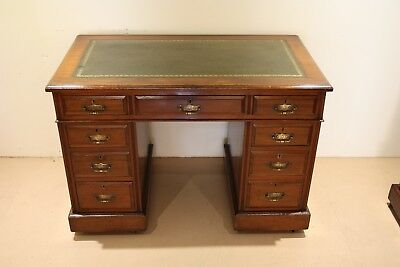 Victorian Red Walnut Antique Twin Pedestal Desk, Excellent Condition