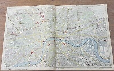 Letts 1889 Map LONDON City Plan. Underground Stations Bus Tram Steamboat routes.