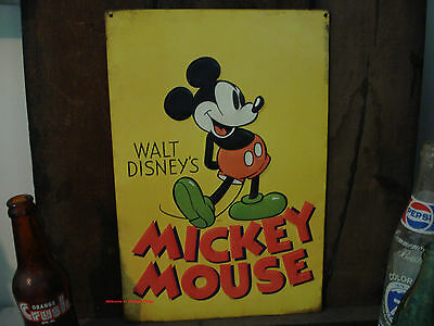 METAL DECOR* OOP WALT DISNEY MICKEY MOUSE character ear vintage old retro-style