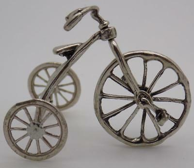 Vintage Solid Silver Italian Made LARGE Tricycle Miniature, Figurine, Tested