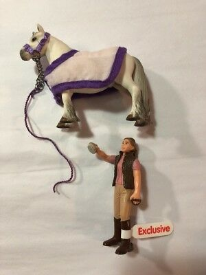 Schleich - 1 Horse (w/accessories), 1 Girl - World Of Nature - Farm Pack 41388