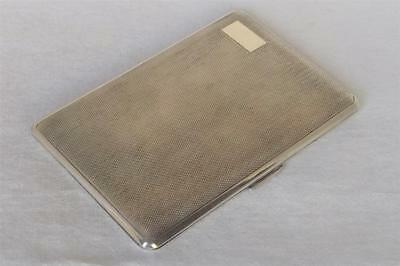 A LARGE & HEAVY SOLID STERLING SILVER CIGARETTE / CARD CASE DATES 1940 151.5 gms