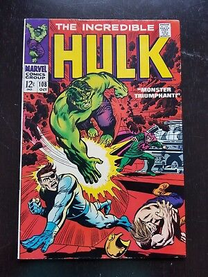 The Incredible Hulk #108 (Oct 1968, Marvel)