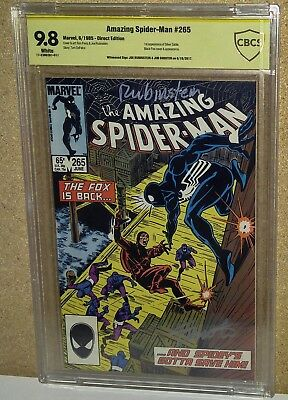 CBCS 9.8 SS x2 Rubinstein & Shooter Spiderman #265 White Pages. 1st Silver Sable