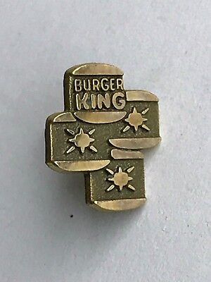Vintage Burger King Lapel Pin Tie Tack 10k Gold filled