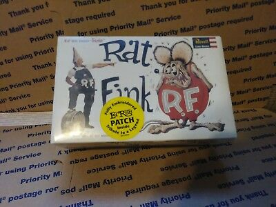 RAT FINK Revell 2001 model kit big daddy Roth WITH Ed(Big Daddy)Roth patch