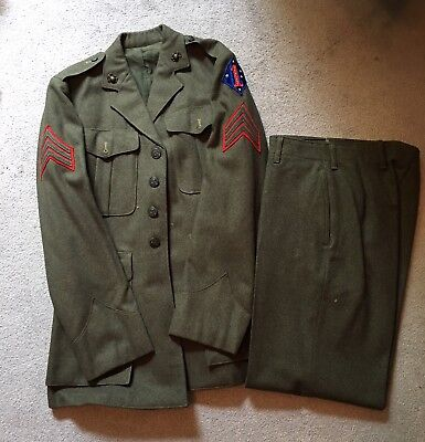 EXCEEDINGLY RARE! WW2 Named USMC Chinese Made 1st USMC Division Patched Uniform