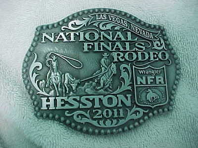 National Finals Rodeo Hesston 2011 Wrangler NFR Las Vegas Cowbow Buckle AGCO New