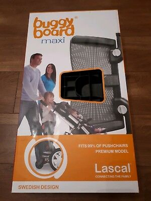 Lascal buggy board maxi with uncut connectors, instructions and original box