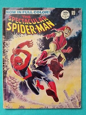 Spectacular Spider-Man 2, 1968 Silver Age Marvel Comic in Magazine Format, GD