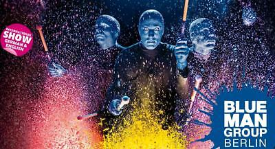 2 x Tickets BLUE MAN GROUP 28.07.18 SA 18:00 Uhr Stage Bluemax Theater / BERLIN!