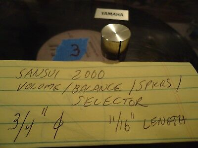 Sansui 2000 Stereo Receiver Parting Out Volume/Selector/Balance Knob #3
