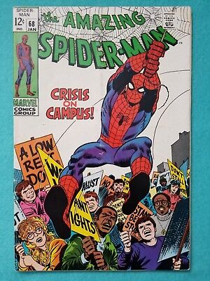 Amazing Spider-Man 68, 1969 Silver Age Marvel Comic VG-