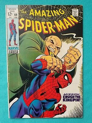 Amazing Spider-Man 69, 1969 Silver Age Marvel Comic FN