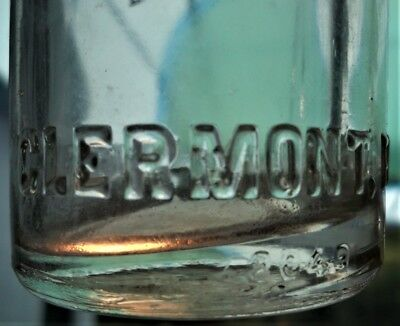 Rare Clermont Fla. Straight Side Soda Bottle C. D. Gentry Florida Lake County