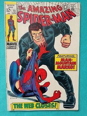 Amazing Spider-Man 73, 1969 Silver Age Marvel Comic FN