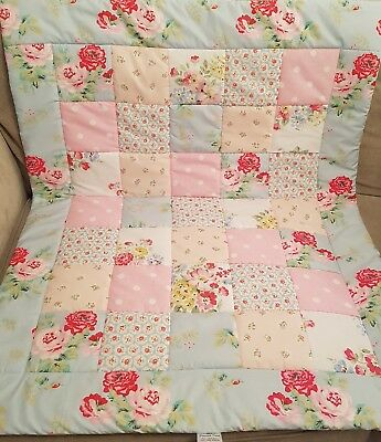 Cath Kidston Quilt Handmade Modern Vintage Shabby Chic Baby Patchwork Cot Quilt