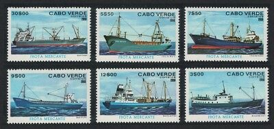 Cape Verde Freighters Ships 6v SG#492-497