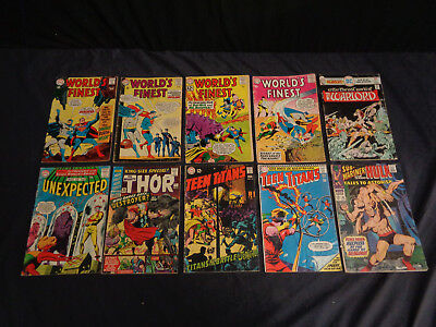 Huge Silver / Bronze Age Marvel And Dc Comic Lot Superman Batman Fantastic Four