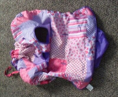 Infantino Compact Cart Cover Pink and Purple