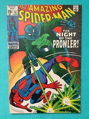 Amazing Spider-Man 78, 1969 Silver Age Marvel Comic VG+