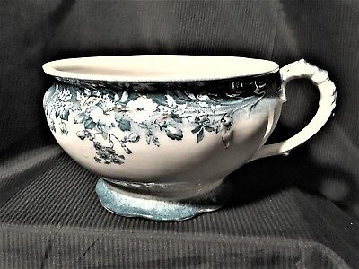 Beautiful Chamber Pot Flow Blue Green CLAYTON by Johnson Brothers EXC