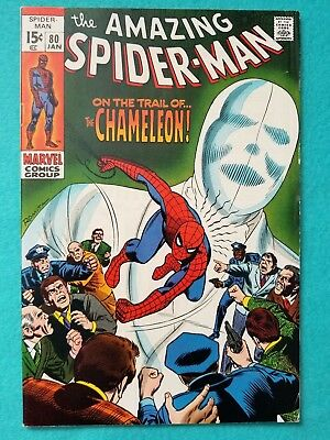 Amazing Spider-Man 80, 1970 Silver Age Marvel Comic FN-