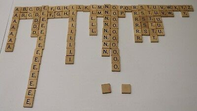 SCRABBLE Board Game Replacement Wood Tiles / Craft Pieces PRICE PER TILE!