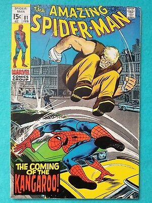 Amazing Spider-Man 81, 1970 Silver Age Marvel Comic FN-