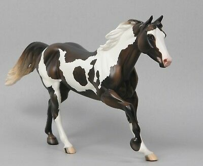 Peter Stone Foundation Quarter Horse Model Clymer FQH Brown Pinto Mare